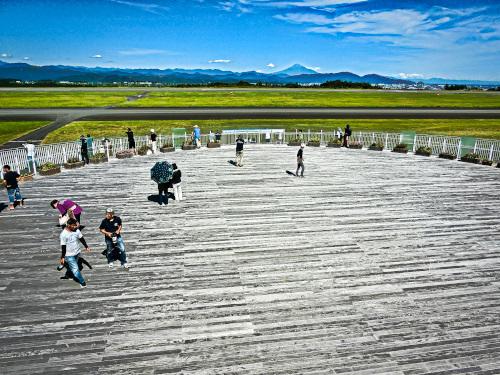 石雲院展望デッキから見える富士山